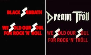 The Black Sabbath album cover and Dream Tröll's parody