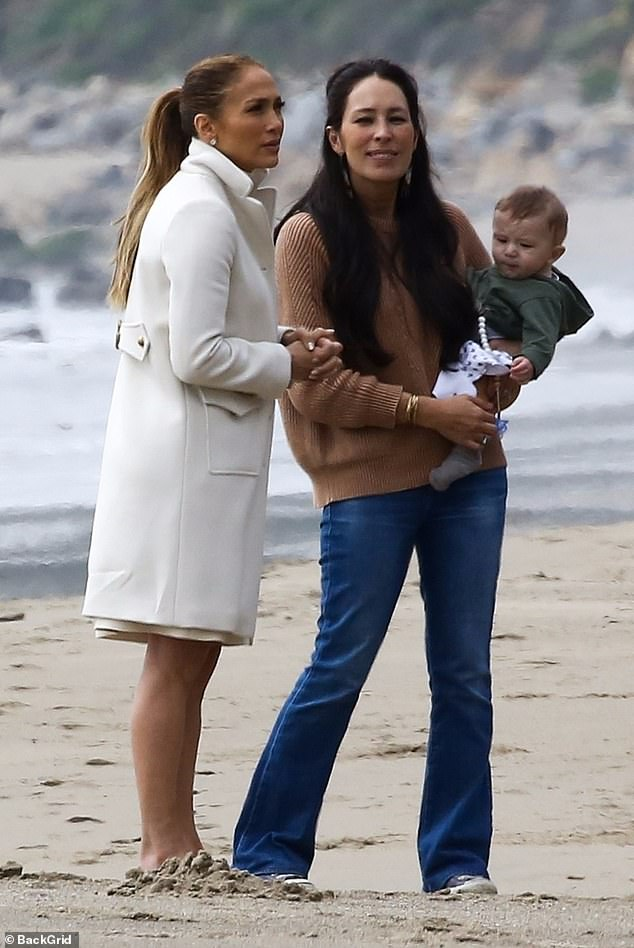a17c6694cd8 Making plans  Joanna Gaines was seen carrying son Crew Gaines in her arms  with Jennifer