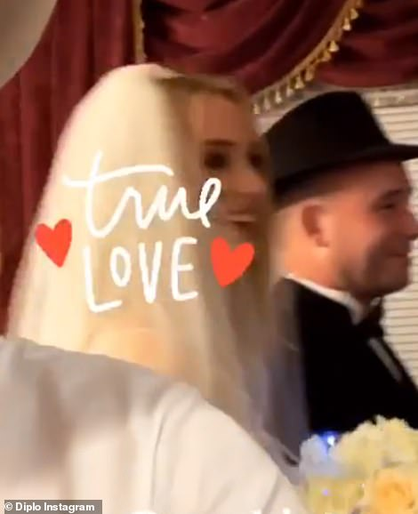 EDM DJ Diplo took to his Instagram Story to share videos from the nuptials