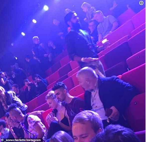 The first sighting: The couple were first seen together at the MTV EMAs