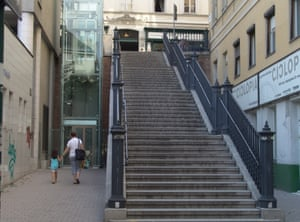 Changes such as the installation of this lift in Mariahilf, helped make the city more accessible to those with prams, wheelchair users and the elderly.