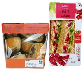 Marks and Spencer sandwich and sausage rolls