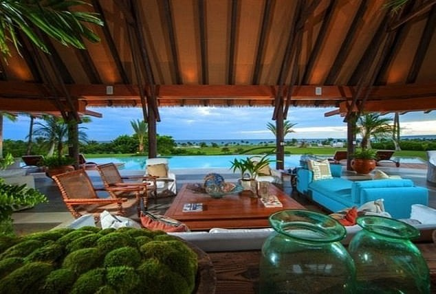 The $18 million mansion in the Dominica Republic resort town of Punta Cana is located off the shores of Juanillo Beach. It boasts of six bedrooms and two additional rooms that can house guests