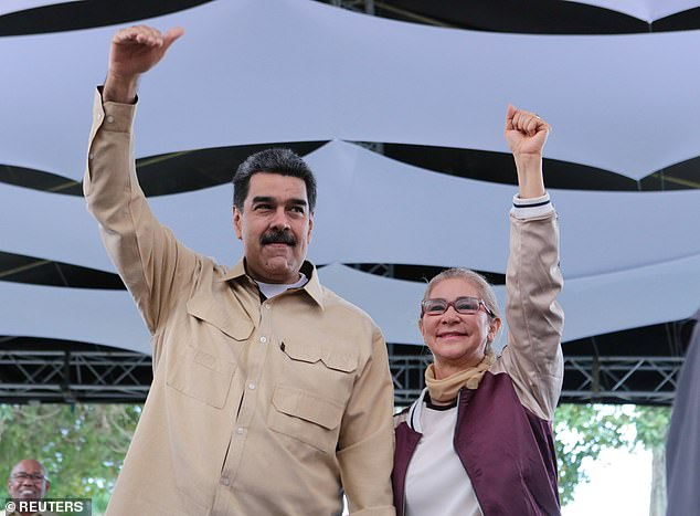 On April 30, NicolasMaduro (left) allegedly got a plane from Russian President Vladimir Putin and sent his wife Cilia Flores (right) to the Dominican Republic. It was also the same dayinterim president Juan Guaidó led military personnel and civilians in an uprising against Maduro which he called 'Operation Freedom'