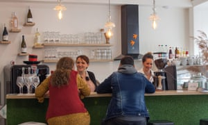 Sophie and Charlotte serve customers at their Mulhouse cafe, Le Nid