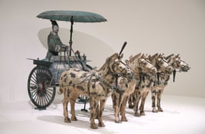 Chariot #2 (Qin dynasty replica), on display at NGV