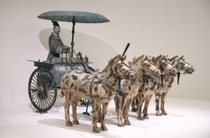 Chariot #2 (Qin dynasty replica), on display at NGV