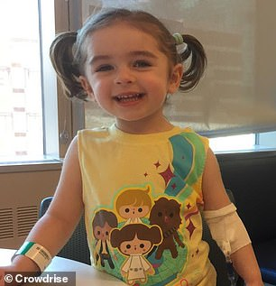 She spent five months attending several doctors' visits and undergoing multiple scans and tests. Pictured: Kaia