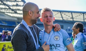 Pep Guardiola said of Oleksandr Zinchenko: 'Oleks has showed me the value of being a good guy. I never saw him have one bad face or had a bad training session from him.''