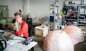 Staying abreast … Prouvost at work in her Antwerp studio.