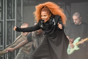 Janet Jackson on the Pyramid stage.