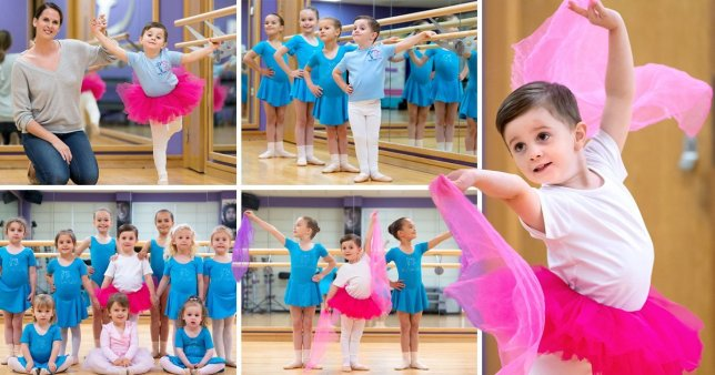 Pictures of Alexander with his Tiny Toes ballet class