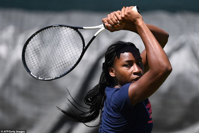 Rise: Rising star Coco Gauff, 15 of the United States will experience Centre Court for the first time as she takes on Polona Hercog of Slovenia in the third round