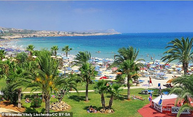 The Israelis are thought to have been in the popular tourist resort of Ayia Napa (file) ahead of their national service, which is compulsory for every Israeli man aged over 18