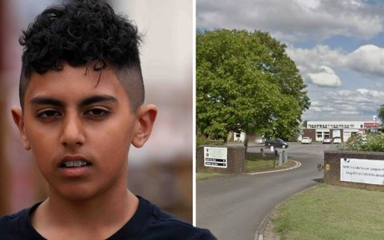 """Picture 389583111 18/07/2019 at 08:42 Owner : email_pictures_at_ukmetro_images A 12-year-old was barred from a leavers assembly due to his """"extreme"""" haircut. Ponteland Community Middle School pupil Arun Purba had hoped his new haircut would help him look sharp for his school prom but following a mix-up with the barber he was left with a shorter crop than expected - which landed him in hot water. As a result he was told he could not attend a special leavers assembly - which his dad Jasper says left him feeling victimised. Jasper Purba with his son Arun who attends Ponteland middle and was excluded for the last few days because his hair was cut to short"""