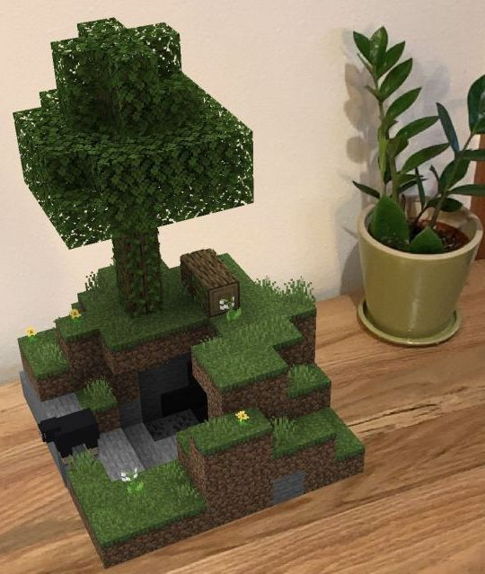 Minecraft Earth - building in the real world