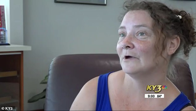 Kristie Downen, 38 (pictured), of Peace Valley, Missouri, was bitten by a lone star tick in July 2015