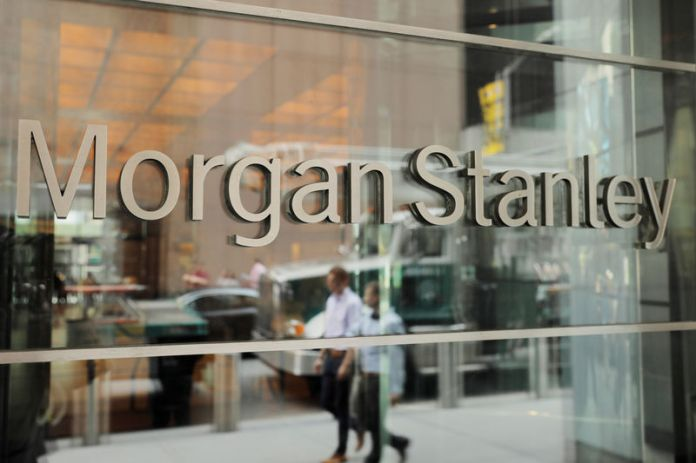 © Reuters. FILE PHOTO: A sign is displayed on the Morgan Stanley building in New York