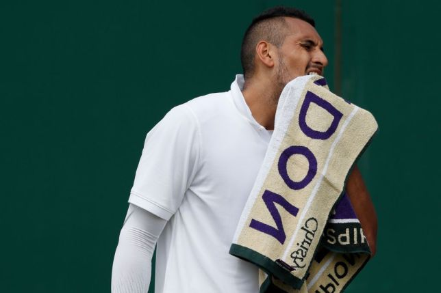 Nick Kyrgios sets up Wimbledon tie with Rafael Nadal after fiery opening round win