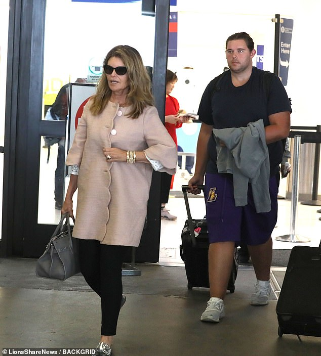 Katherine Schwarzenegger returns home with mom Maria Shriver