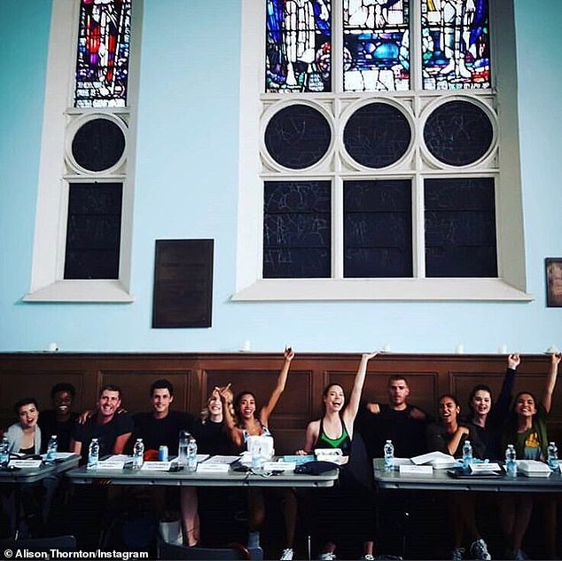 Table reading: Chris (4-R) wanted it removed 'by the end of the week' before he wraps his recurring role as Marine recruitor Cpl. Kurtz in the USA Network and Netflix's upcoming Midwestern drama, Dare Me (posted Monday)