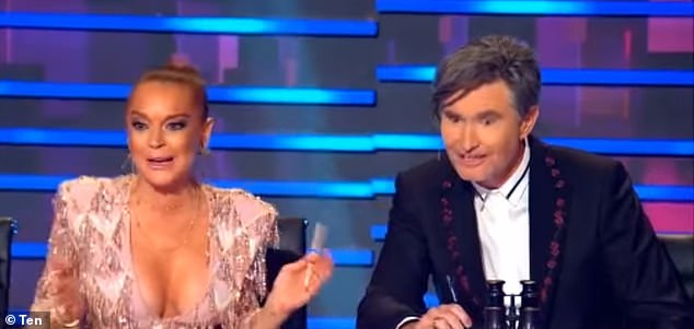 'I'm just going on the best base of knowledge that I have on Australians,' Lindsay said in one clip, before co-judge Dave 'Hughesy' Hughes offered a cheeky comment
