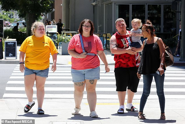 Family: Honey Boo Boo has been living with her 19-year-old sister Pumpkin throughout the turmoil and it was reported that June and Geno were living in an Alabama casino