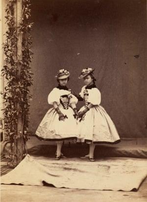Princess Helena and Princess Louise, April 1859.