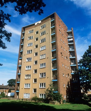 Britain's first residential tower block, the 1951 Lawn in Harlow, designed by Frederick Gibberd.
