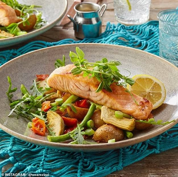 Ms Thornton-Wood recommends thePan-seared Salmon as a main at Zizzi, which provides a range of vitamins and minerals from its high vegetable content