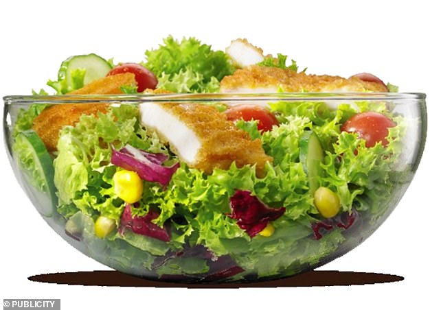 There's not much to choose from that will help with weight loss at Burger King, but Ms Thornton-Wood recommends the Crispy Chicken Salad for its vegetable content