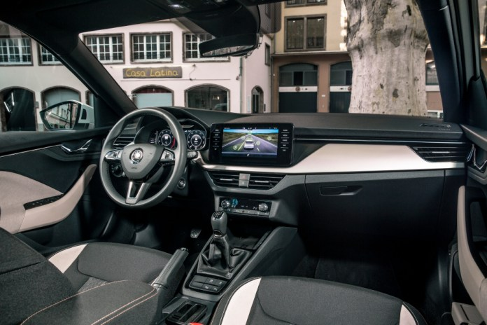 The interior is stylish, spacious and has a decent bit of kit behind it