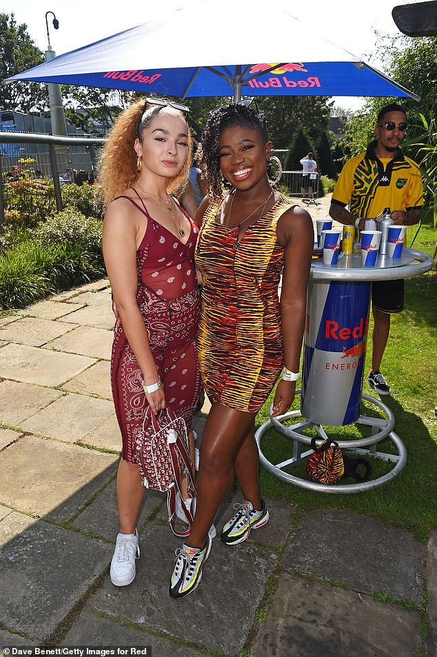 Sunshine:Also spotted at the annual event was singer Ella Eyre (left) and radio presenter Clara Amfo (right)