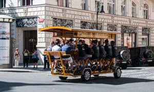 A beer-and-bike tour – one of Prague's many alcohol-related activities - offers unlimited Czech beer