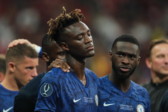 Tammy Abraham looked distraught after his penalty miss for Chelsea