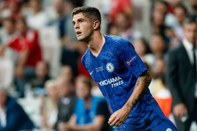 Christian Pulisic looks on during a match for Chelsea