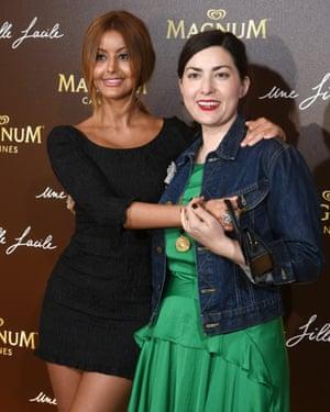 Dehar with the director of Une Fille Facile, Rebecca Zlotowski.