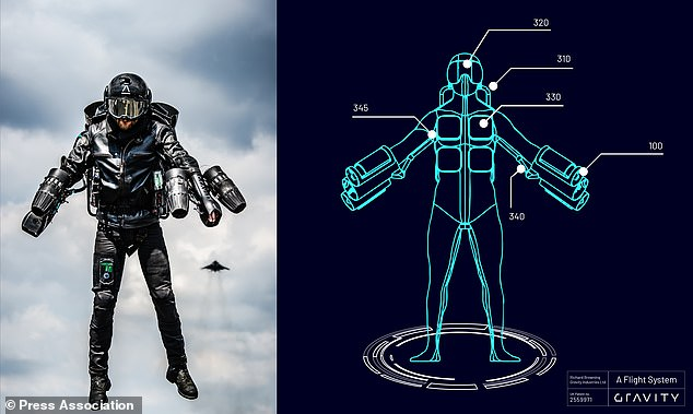 The Jet Suit uses five gas turbines which collectively produce over 1,000 brake horsepower to gain flight, and can reach speeds of over 55mph. Company founder Richard Browning has previously demonstrated the suit in more than 20 countries around the world