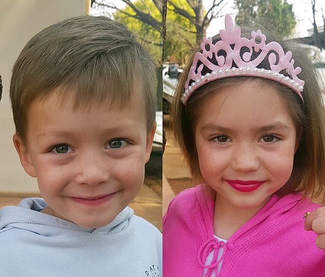 Jayden, pictured above with his sister Amy-Lee was cared for by their aunt, while their parents remained at the police station