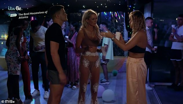 Insult:With Liam Blackwell aka Gatsby stepping into stop the fight, Olivia hurled the last insult: 'Walk away Chloe in your f***king Aladdin trousers.'