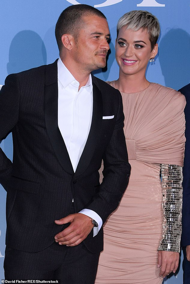 Sparks flying: Katy and Orlando have been dating on and off since January 2016 after they were seen flirting with one another at the Golden Globe Awards in Beverly Hills