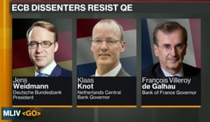 Hawks on the ECB governing council