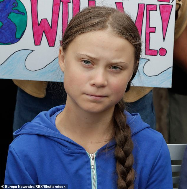Petteri Taalas, the secretary-general of the World Meteorological Organization (WMO)believes using words like 'scared' could make young people depressed and anxious and hinder the environmental effort. Greta Thunberg (pictured) is leading a revolution to combat climate change