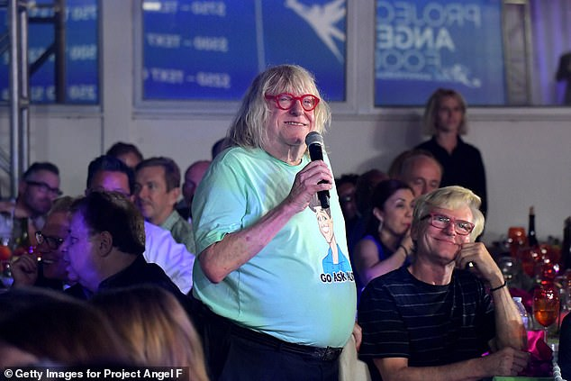 Probably scripted the ceremony:Six-time Emmy-winning comedy writer Bruce Vilanch sported his trademark red glasses as he addressed the crowd