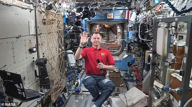Pilot:NASA astronaut Nick Hague seemed to enjoy talking to Brad