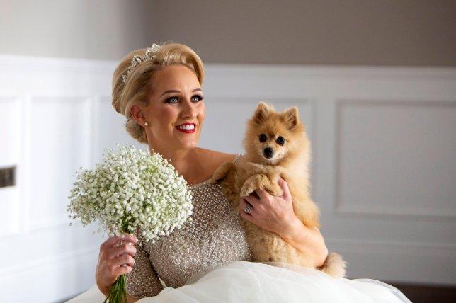 Samantha Kelly with her dog Jessie