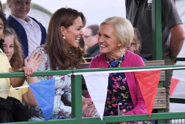 Mary Berry and Kate Middleton