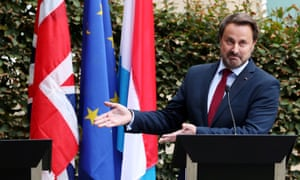 Luxembourg's prime minister, Xavier Bettel. Phootgraph: Yves Herman/Reuters