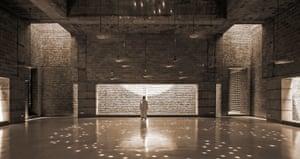 The prayer hall at Bait ur Rouf Mosque Dhaka, Bangladesh.