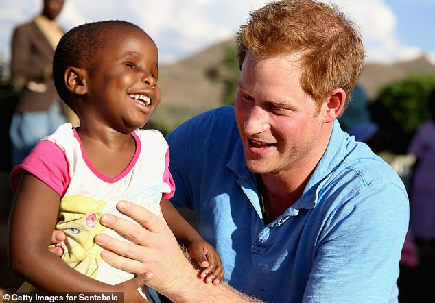 Prince Harry is well known for his enduring commitment to Africa and, in particular, Lesotho, where he founded his Sentebale charity in honour of his mother Princess Diana. (Above, Harry in Lesotho in 2006)